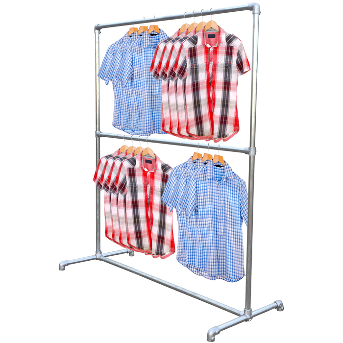Double Garment Rail / Cloths Rail